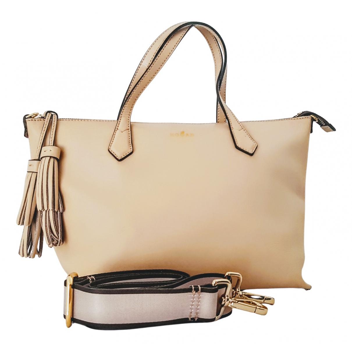 Hogan \N Beige Leather handbag for Women \N