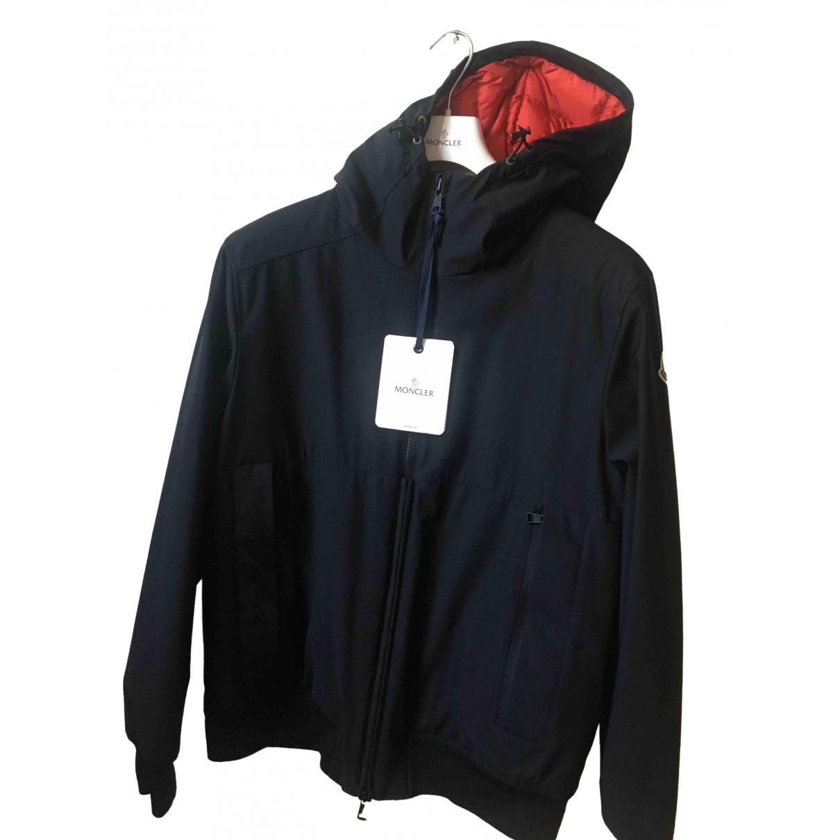 Moncler Hood Jacke in  Schwarz Synthetik