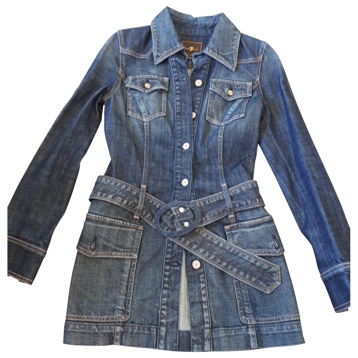7 For All Mankind \N Blue Denim - Jeans jacket for Women S International