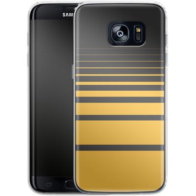 Samsung Galaxy S7 Edge Silikon Handyhuelle - Yellow Retro von SONY