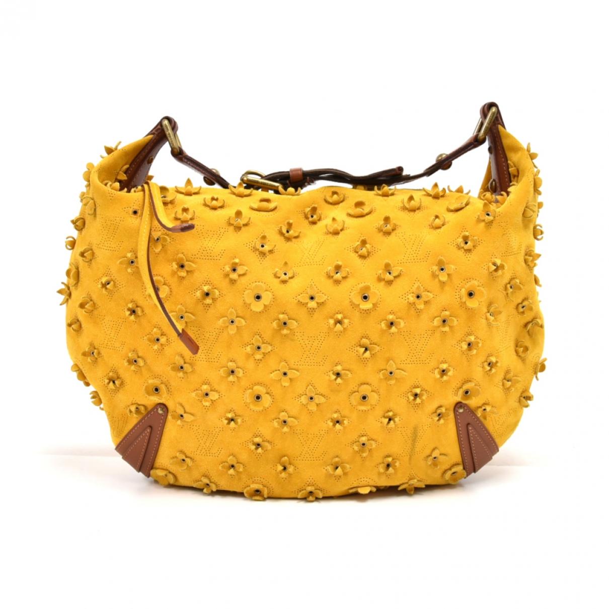 Louis Vuitton Onatah Yellow Suede handbag for Women \N