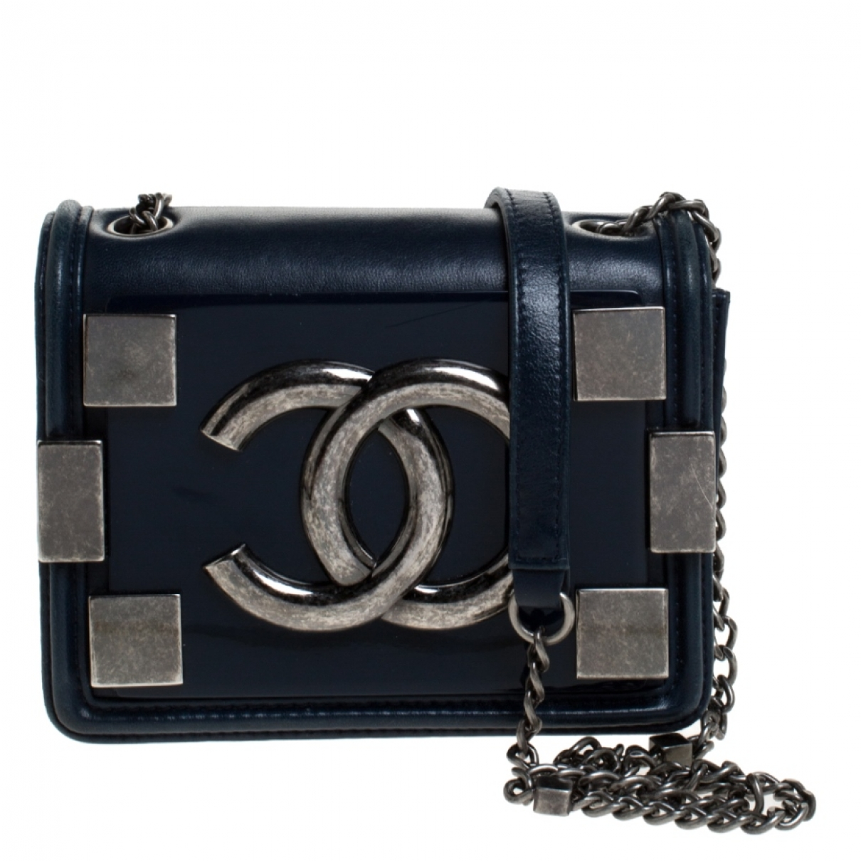 Chanel \N Blue Leather handbag for Women \N