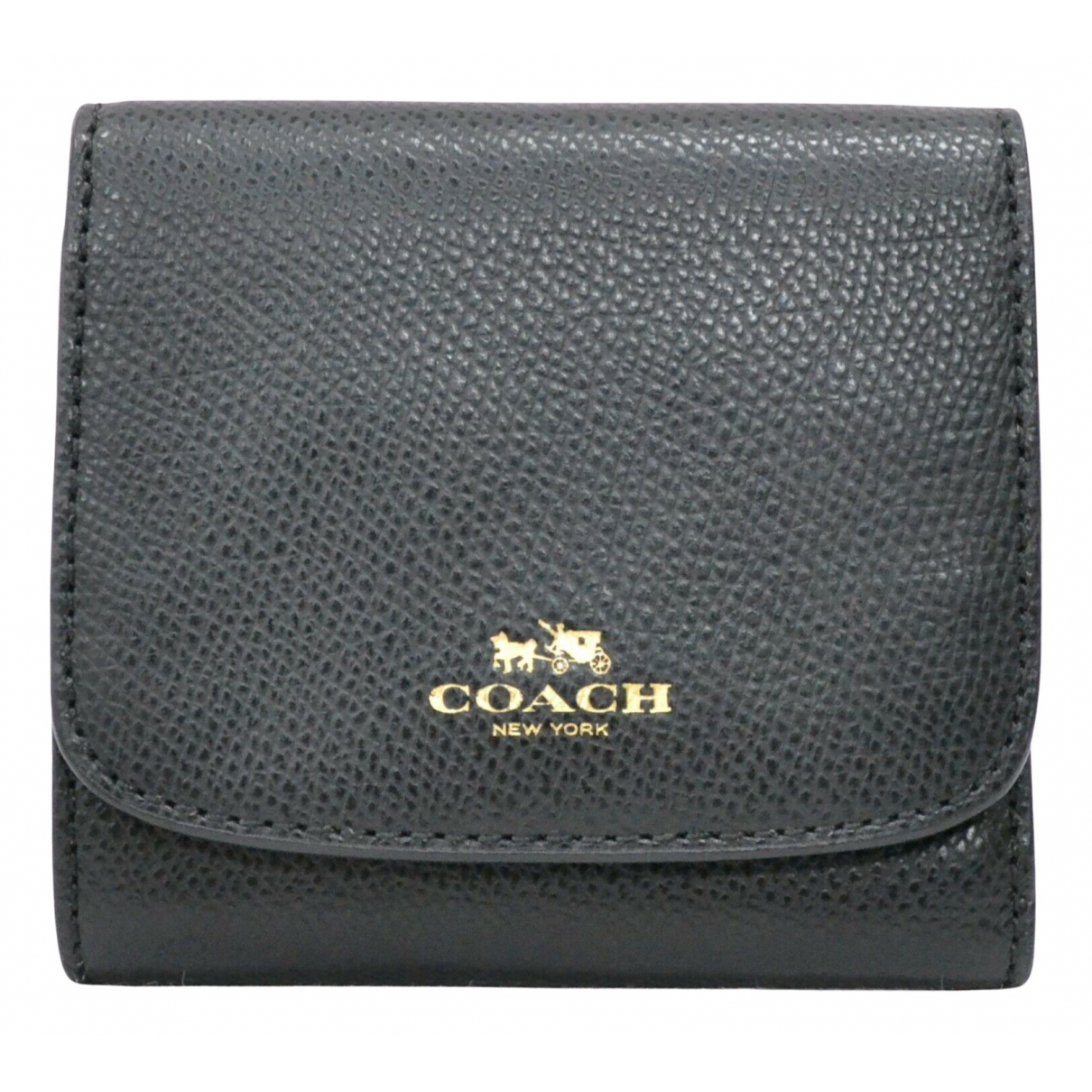 Coach \N Portemonnaie in  Schwarz Leder