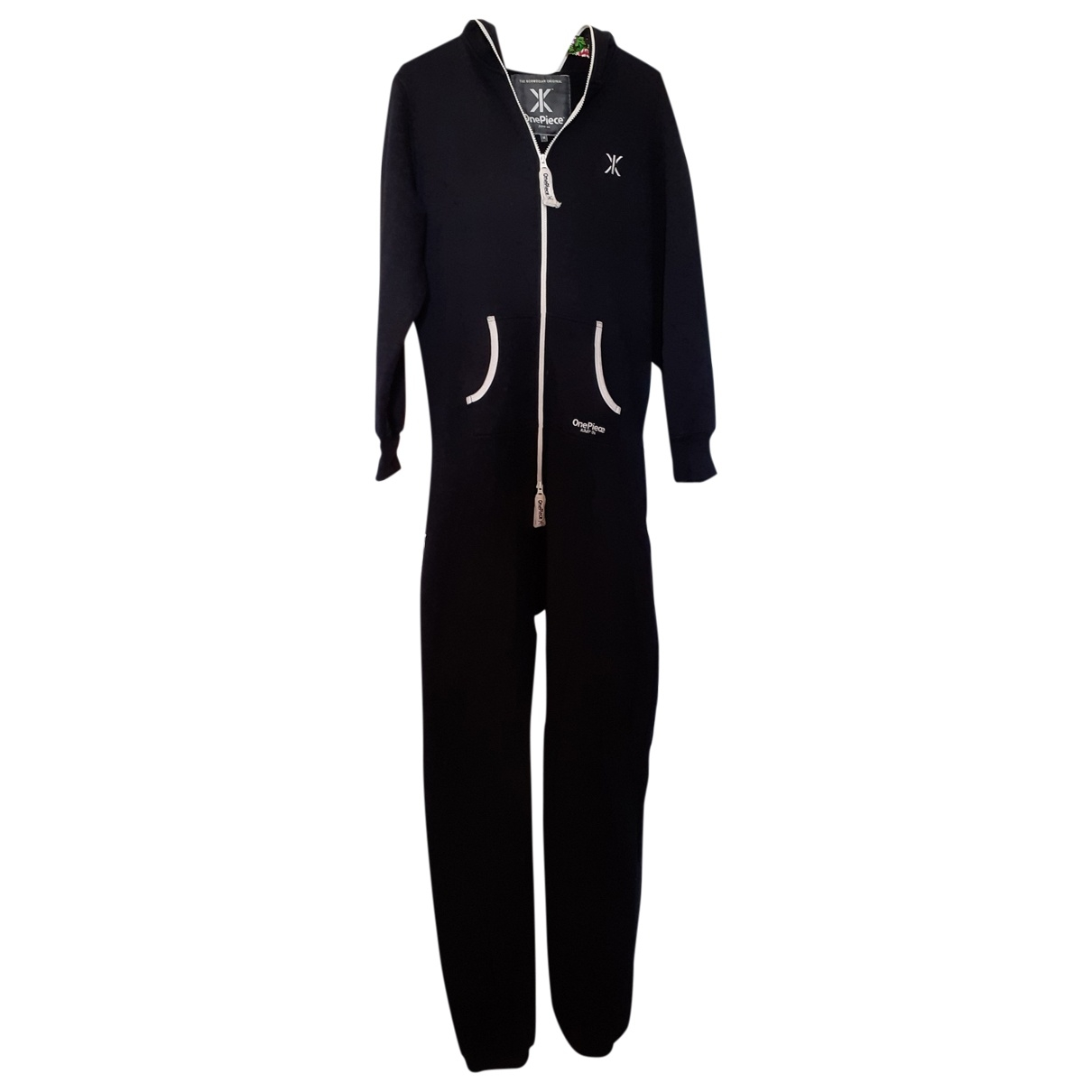 One Piece \N Jumpsuit in  Schwarz Baumwolle