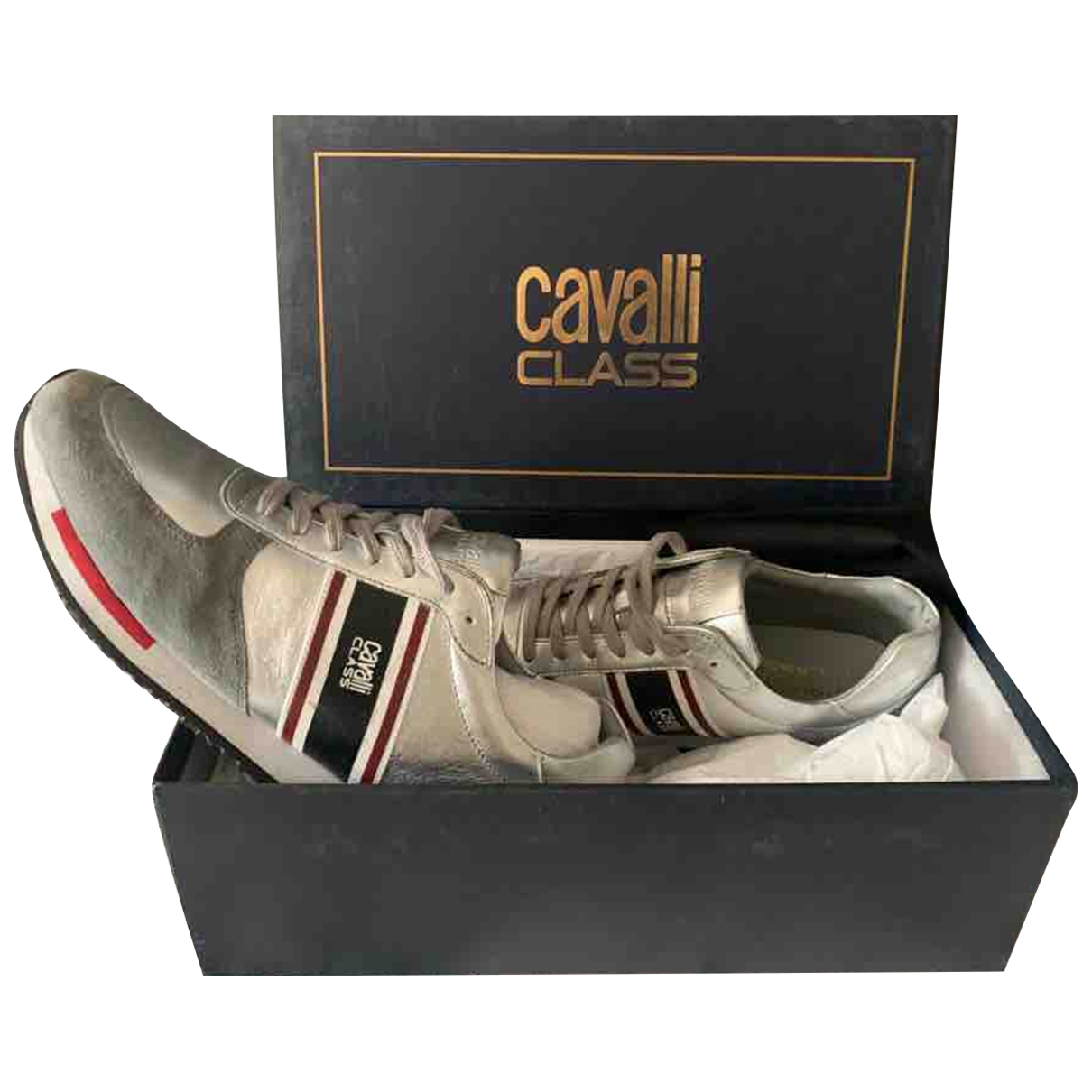 Class Cavalli \N Silver Leather Trainers for Men 44 EU