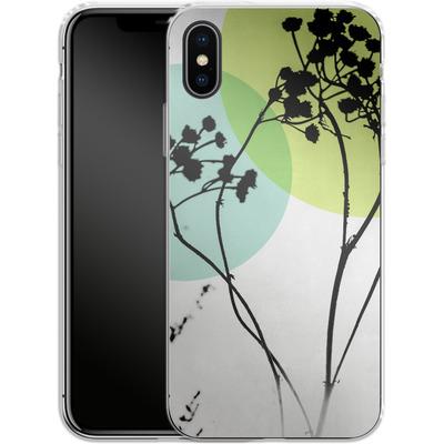 Apple iPhone X Silikon Handyhuelle - Abstract Flowers 2 von Mareike Bohmer
