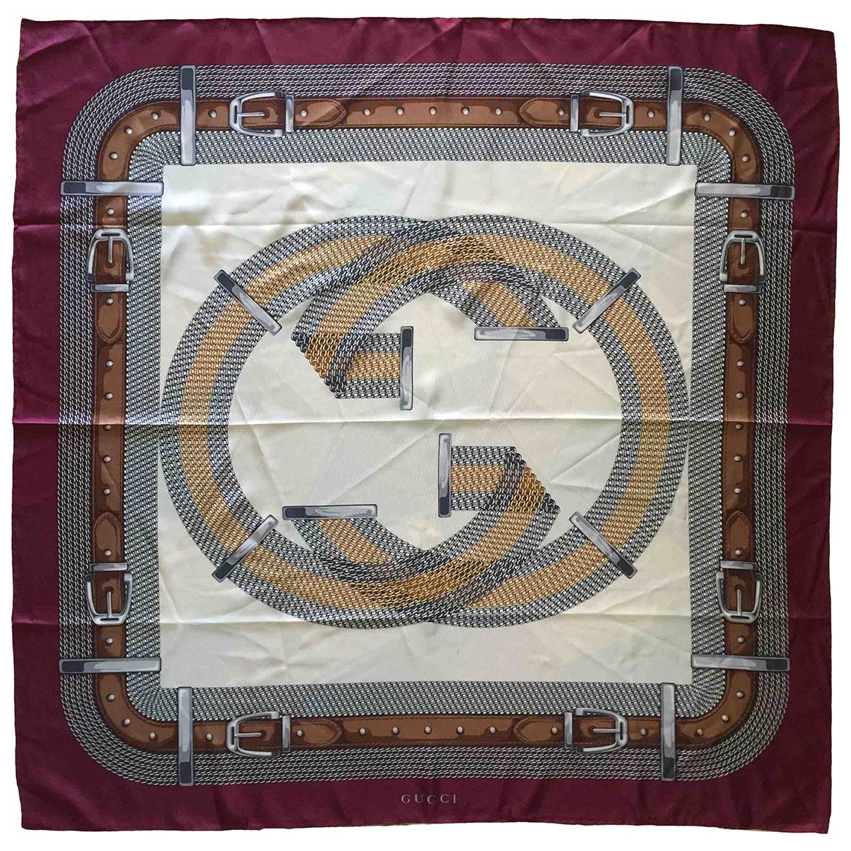 Gucci \N Burgundy Silk Silk handkerchief for Women \N