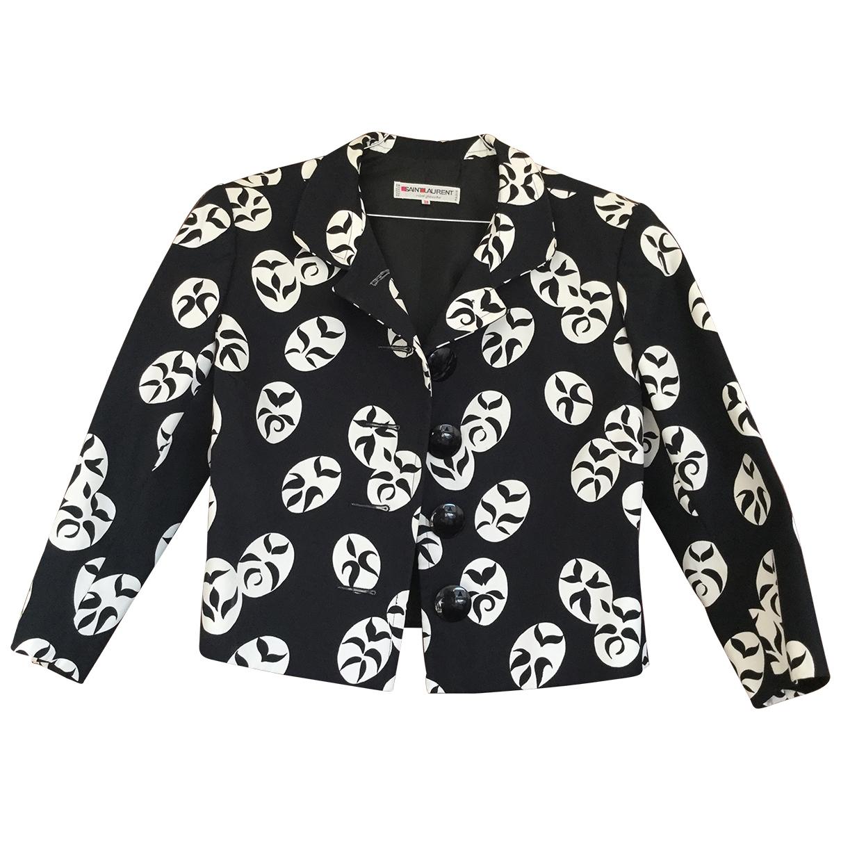 Yves Saint Laurent - Veste   pour femme en coton - noir