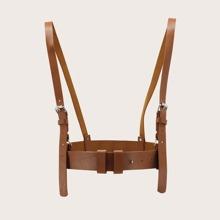 Metal Buckle Suspender Belt