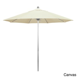 Riviera 9-foot Push Open Silver-finished Round Umbrella by Havenside Home, Base Not Included (Canvas)