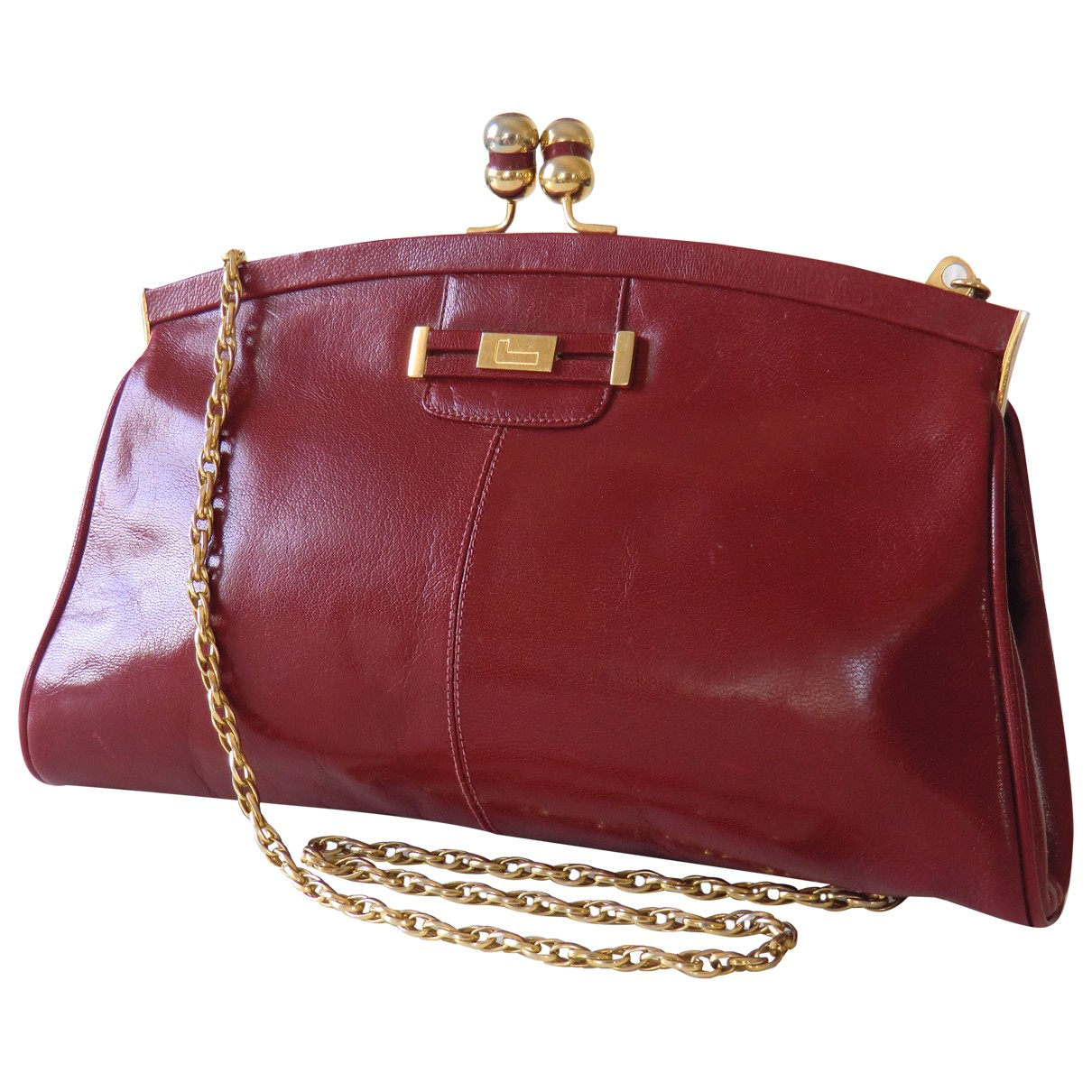 Lancel N Red Leather handbag for Women N