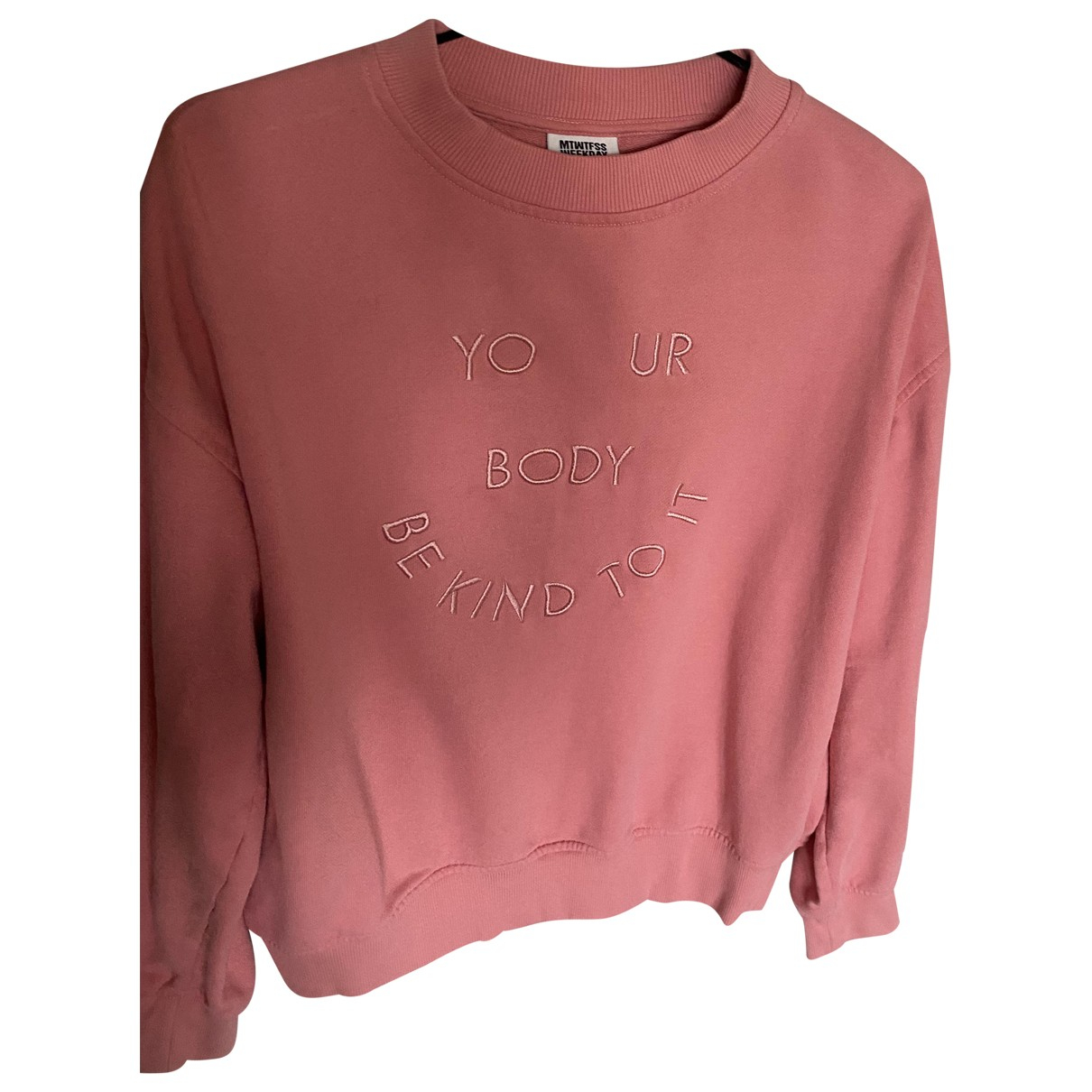Weekday - Pull   pour femme en coton - rose
