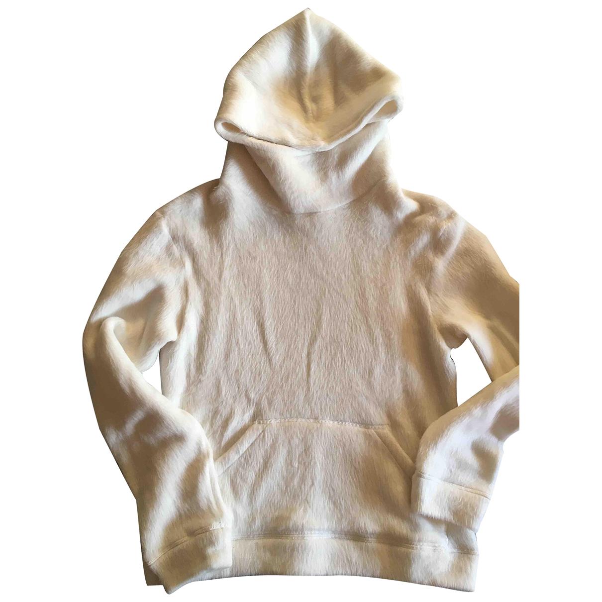 Emporio Armani \N Pullover.Westen.Sweatshirts  in  Ecru Polyester