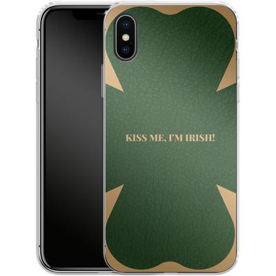 Apple iPhone X Silikon Handyhuelle - Irish von caseable Designs