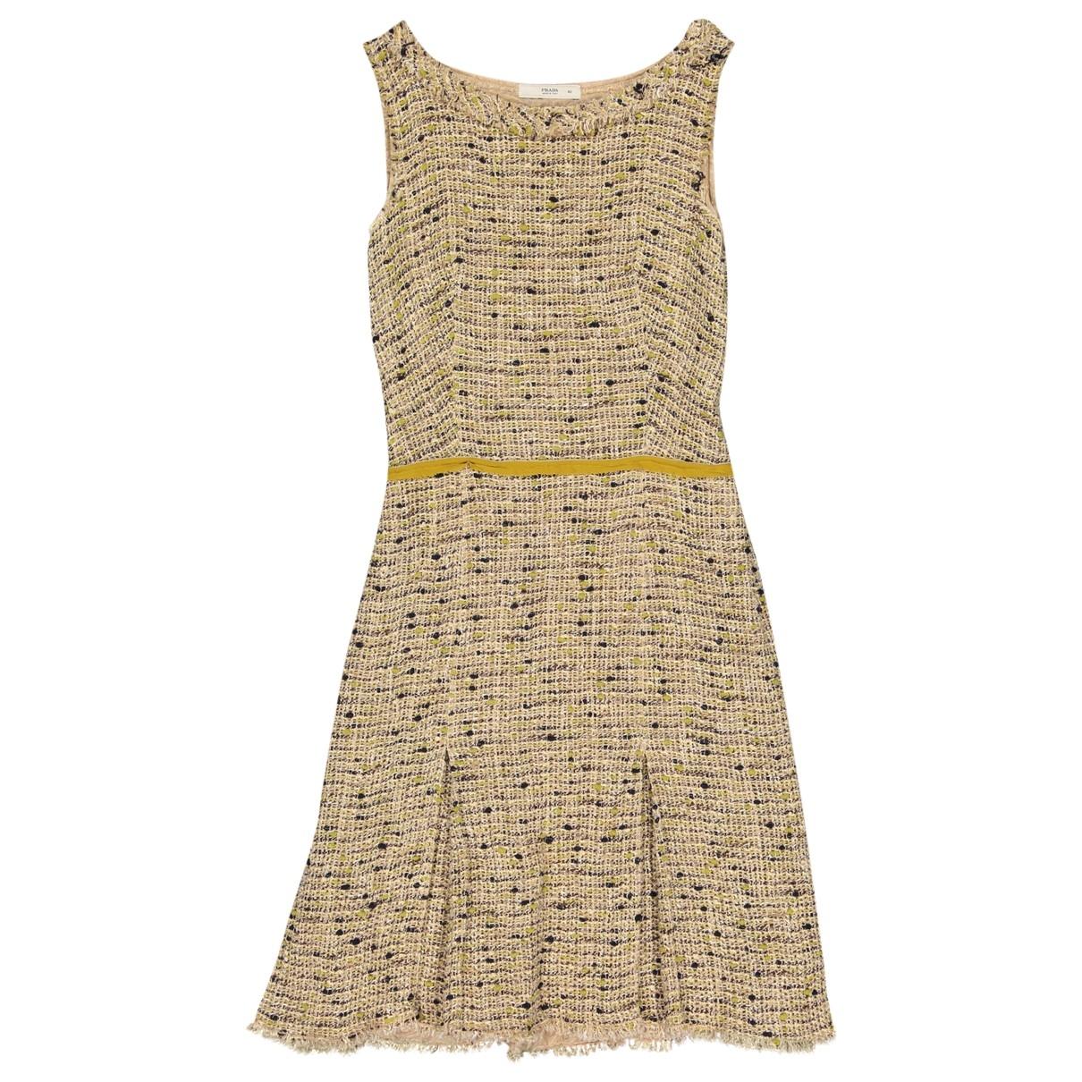 Prada \N Kleid in  Beige Tweed