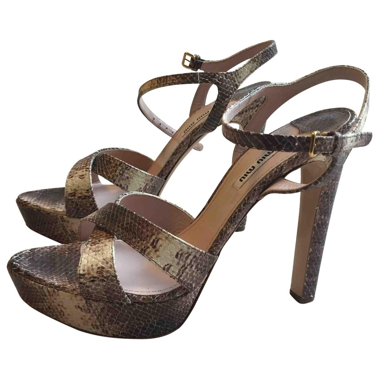 Sandalias de Piton Miu Miu