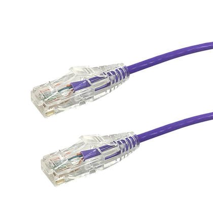 Cat6A UTP 28AWG 10GB Ultra -Thin Patch Ethernet Cables - Purple - 7ft