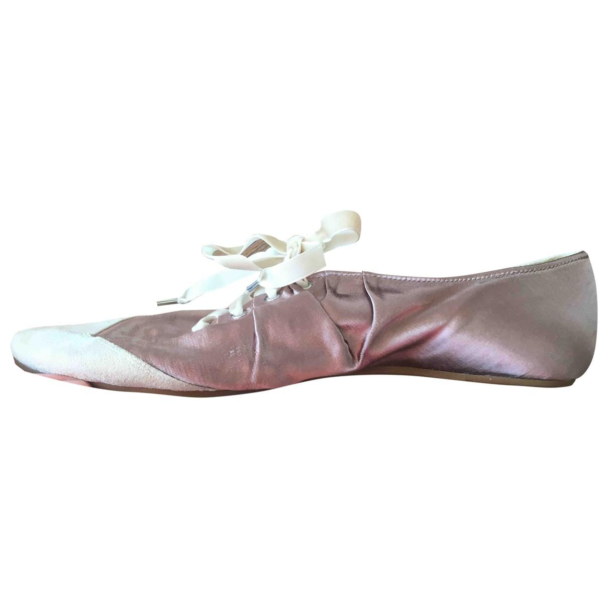 Ash \N Ballerinas in  Braun Leinen