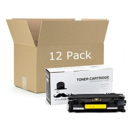 Compatible HP 80A CF280A cartouche de toner noire - Moustache - 12/paquet
