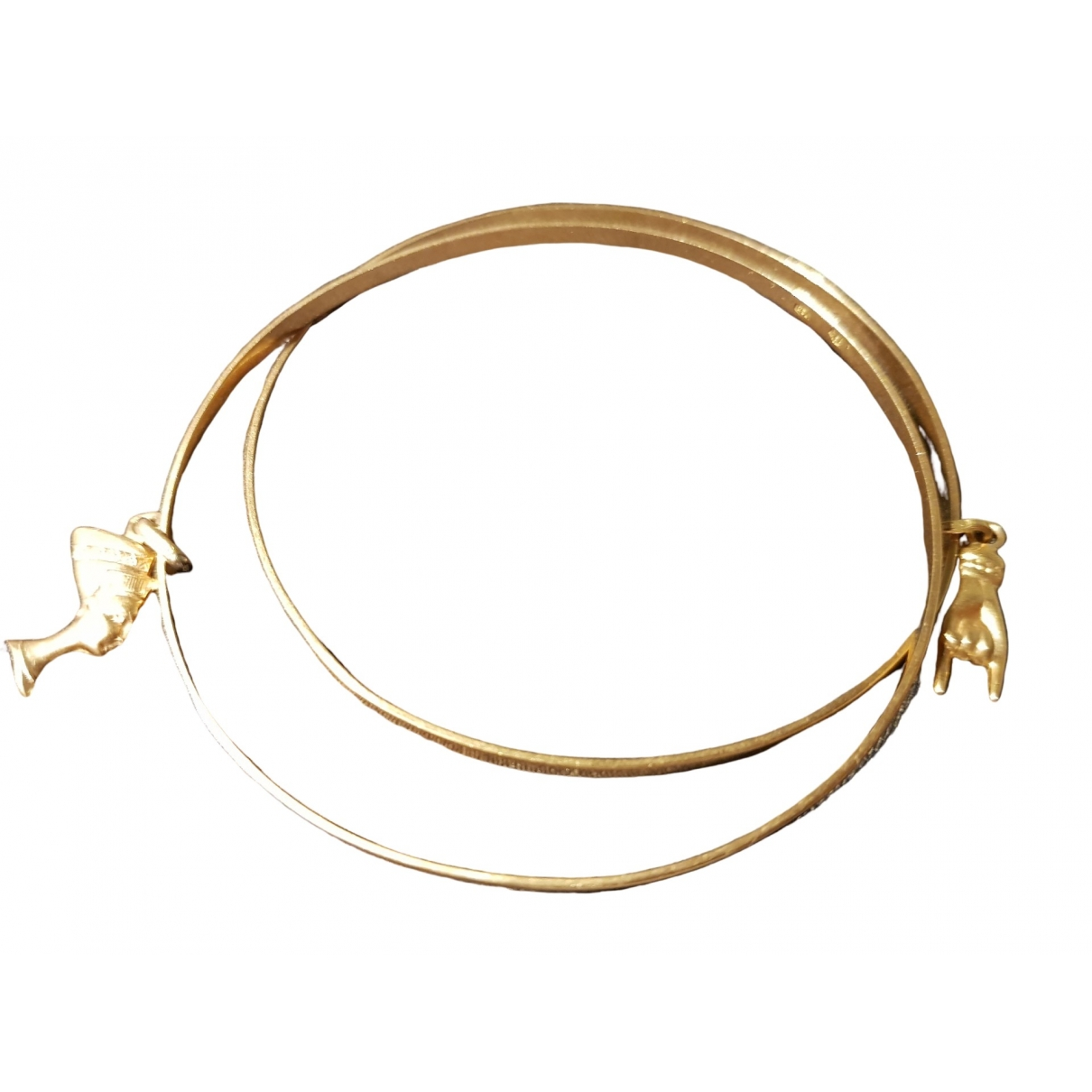 Non Signe / Unsigned Jonc Armband in  Gold Gelbgold