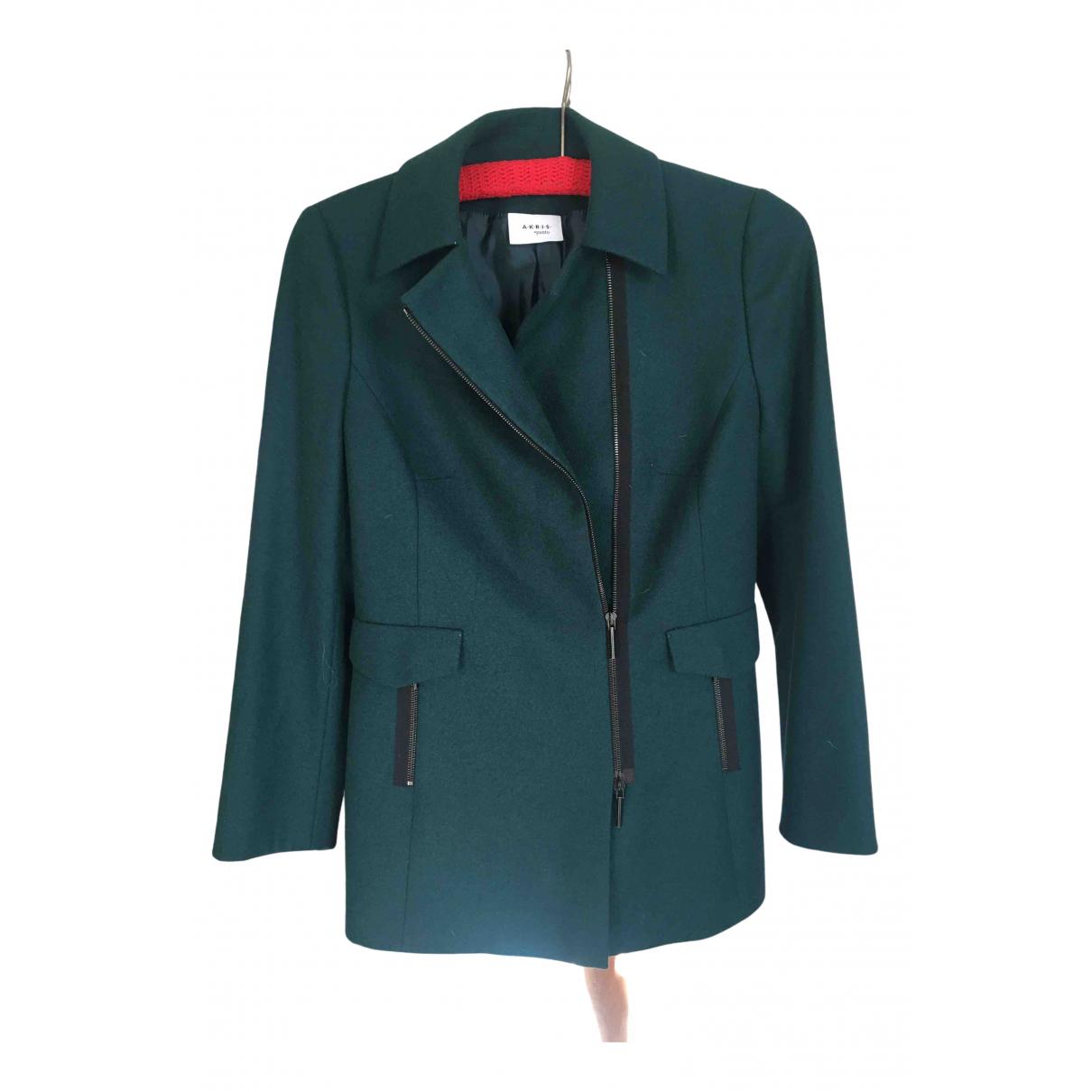 Akris Punto - Veste   pour femme en laine - vert