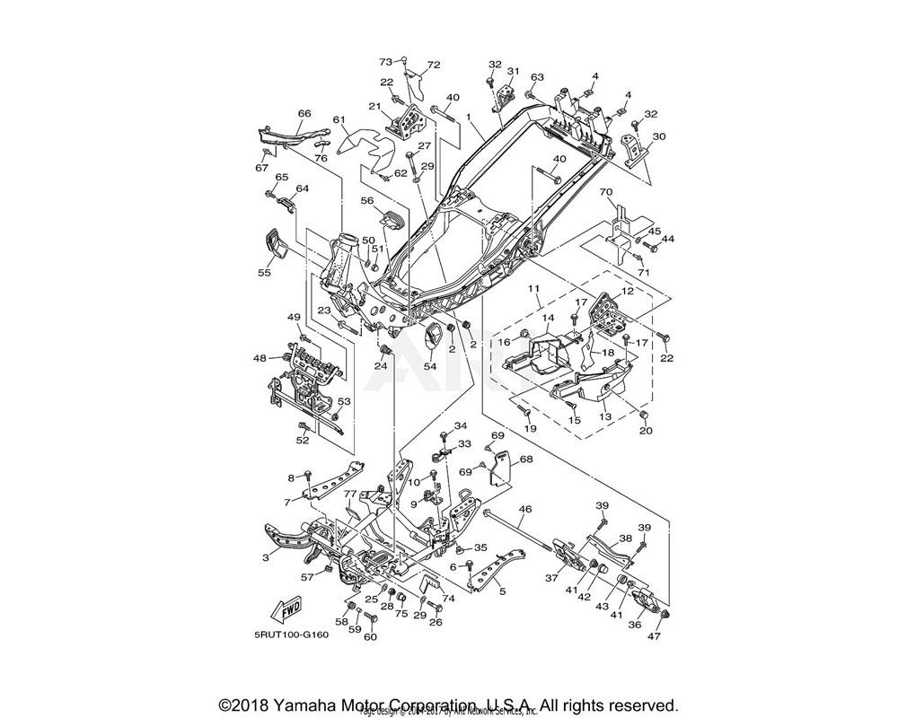 Yamaha OEM 5RU-2117W-00-00 COVER 8