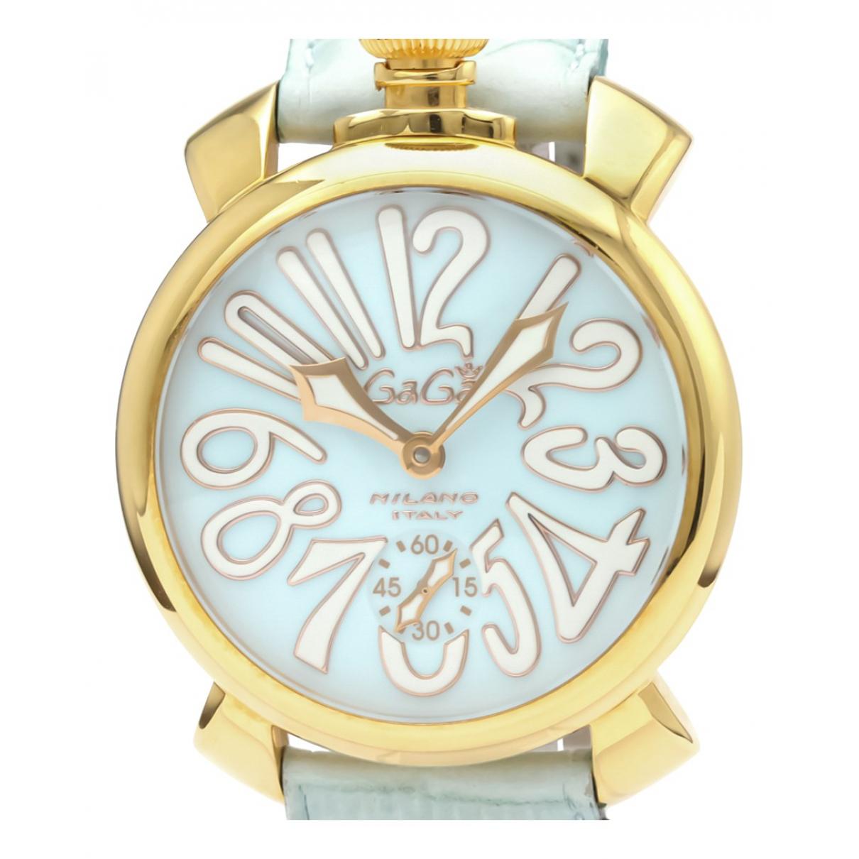 Non Signe / Unsigned \N Uhr in  Blau Vergoldet