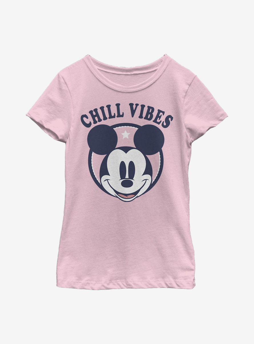 Disney Mickey Mouse Chill Vibes Youth Girls T-Shirt