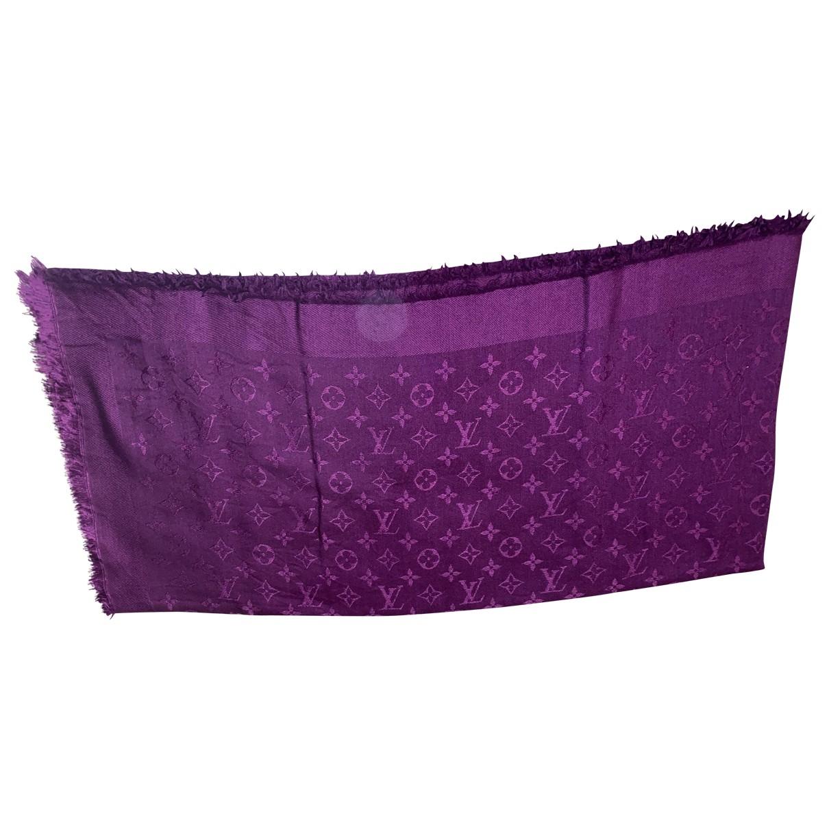 Louis Vuitton Châle Monogram Purple Silk scarf for Women \N