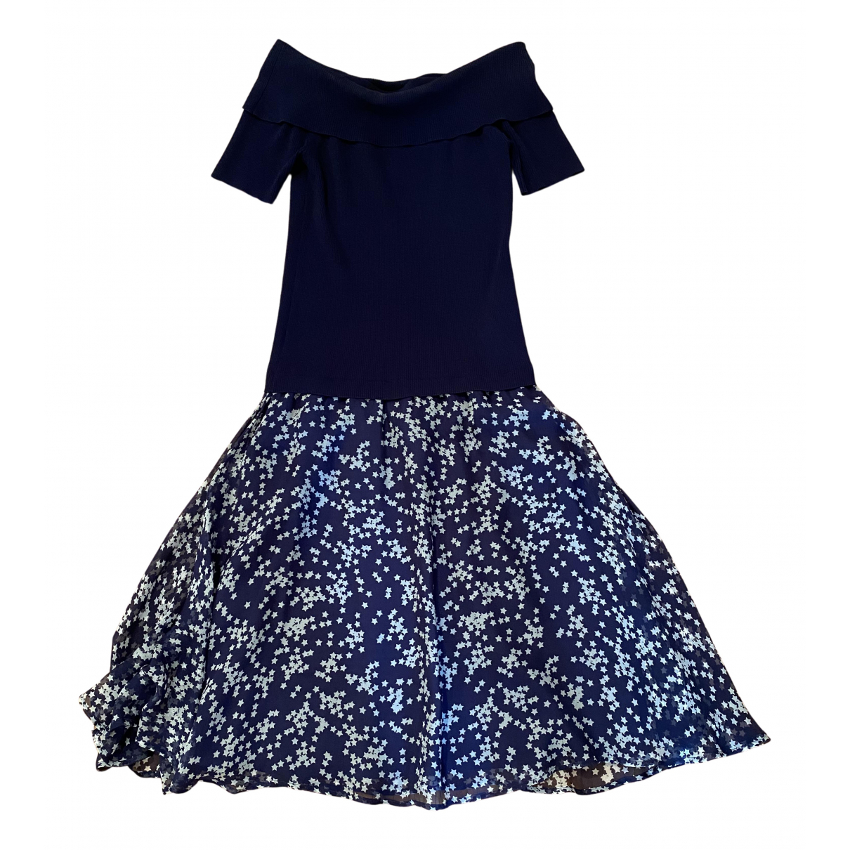 Parosh - Robe   pour femme en soie - bleu