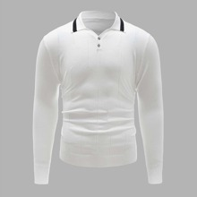 Men Quarter Button Sweater