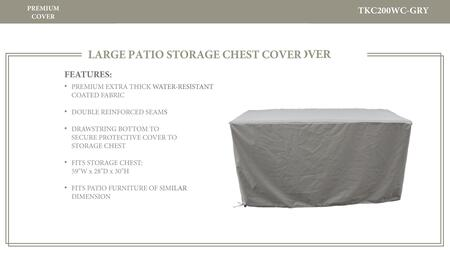 TKC200WC-GRY Storage Chest Protective Cover  in