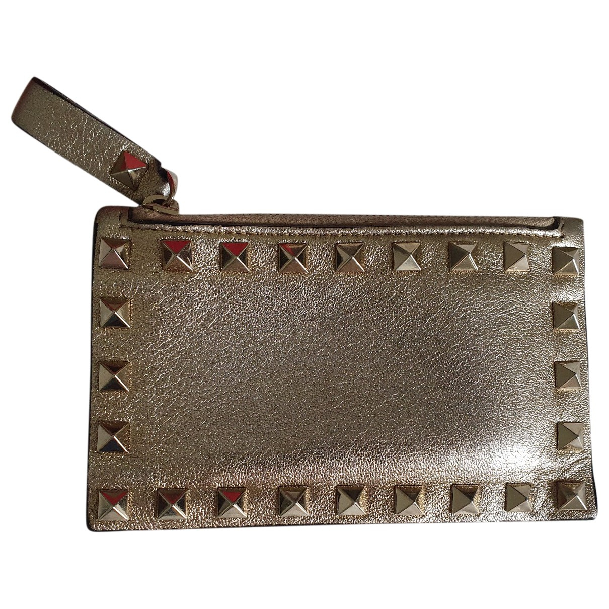 Valentino Garavani \N Gold Leather Purses, wallet & cases for Women \N