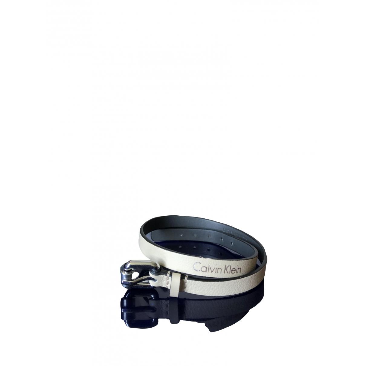 Calvin Klein \N Armband in  Beige Leder
