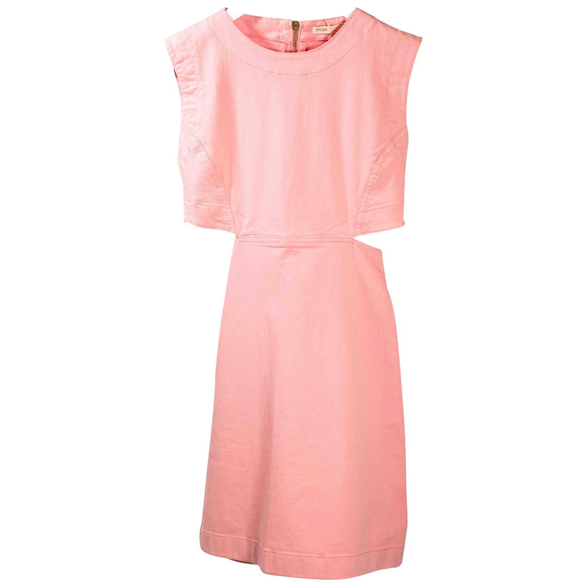 Maje \N Kleid in  Rosa Baumwolle - Elasthan