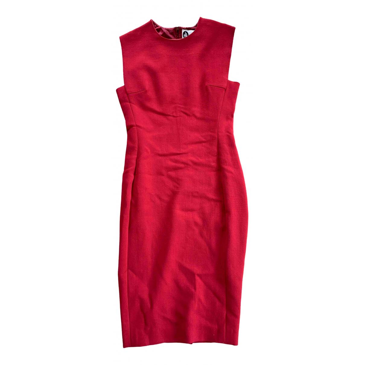 Lanvin \N Kleid in  Rot Wolle
