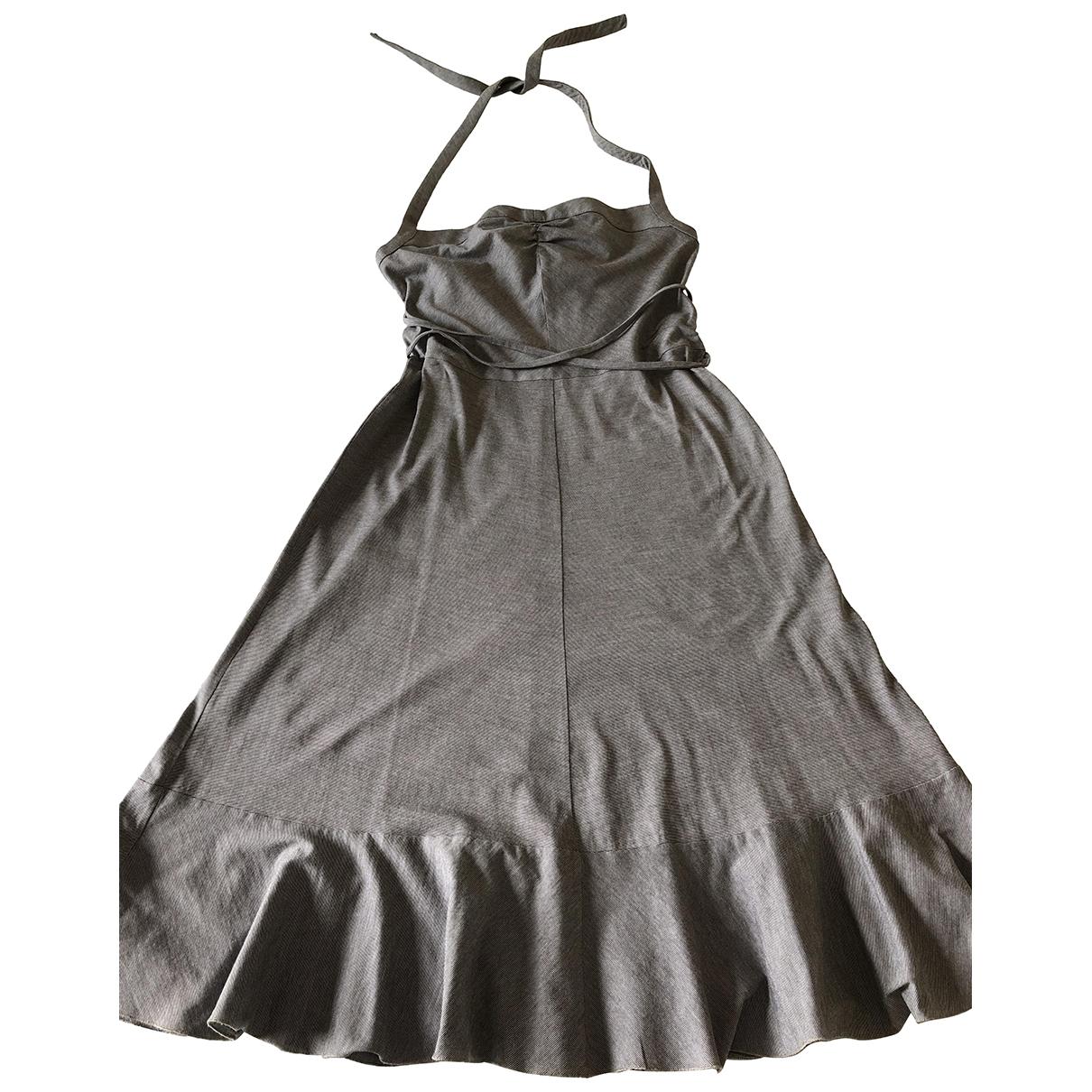 Mauro Grifoni \N Kleid in  Grau Baumwolle