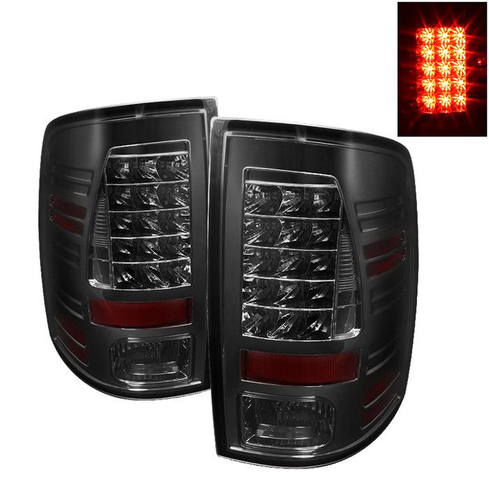 Spyder Auto ALT-YD-DRAM09-LED-SM Smoke LED Taillights Dodge Ram 2500 | 3500 with Incandescent Lights 10-14