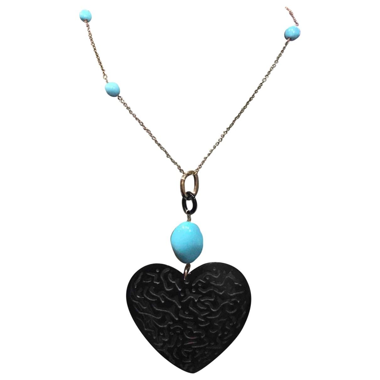 - Collier Motifs Coeurs pour femme en argent - rose
