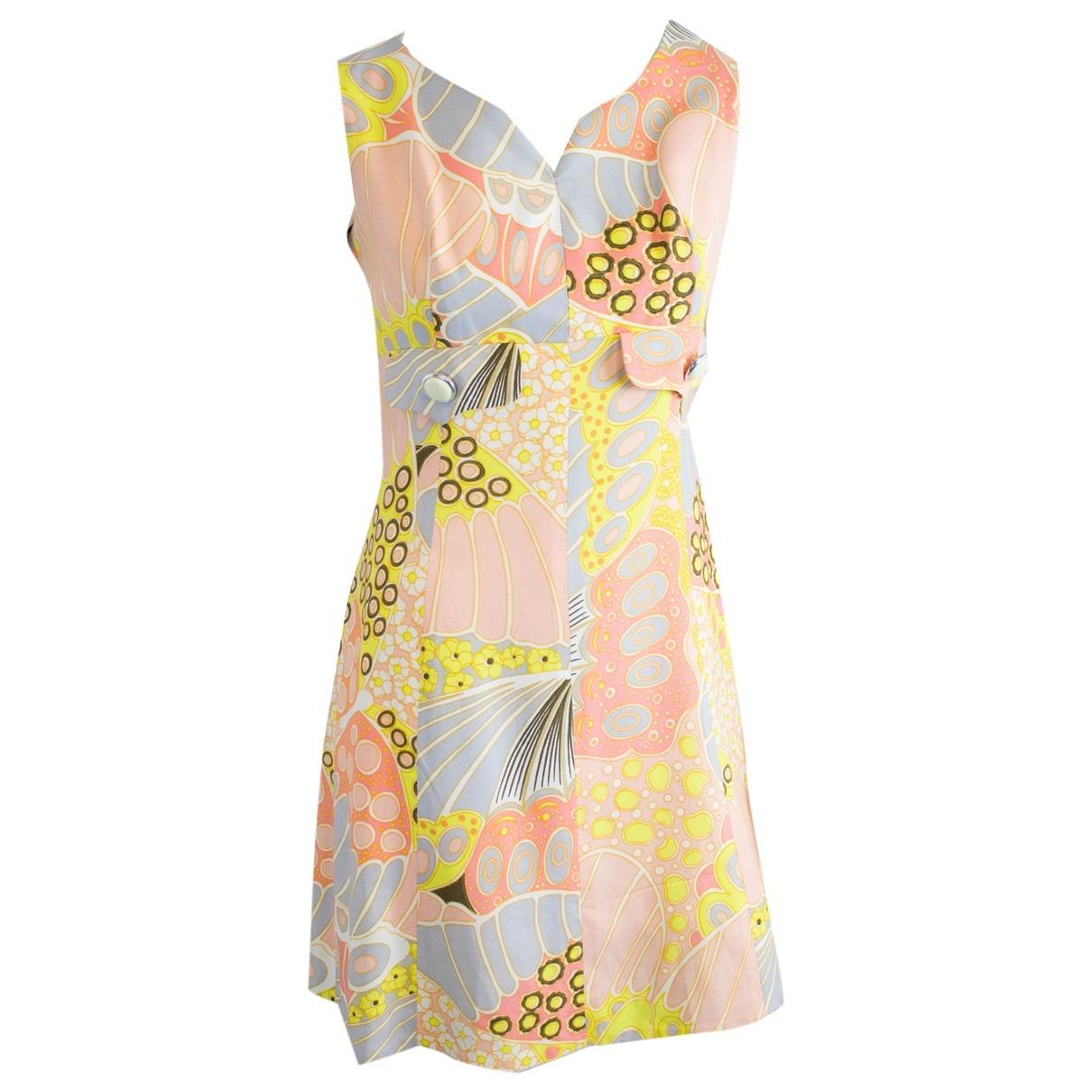 Non Signé / Unsigned Hippie Chic Multicolour dress for Women 10 UK