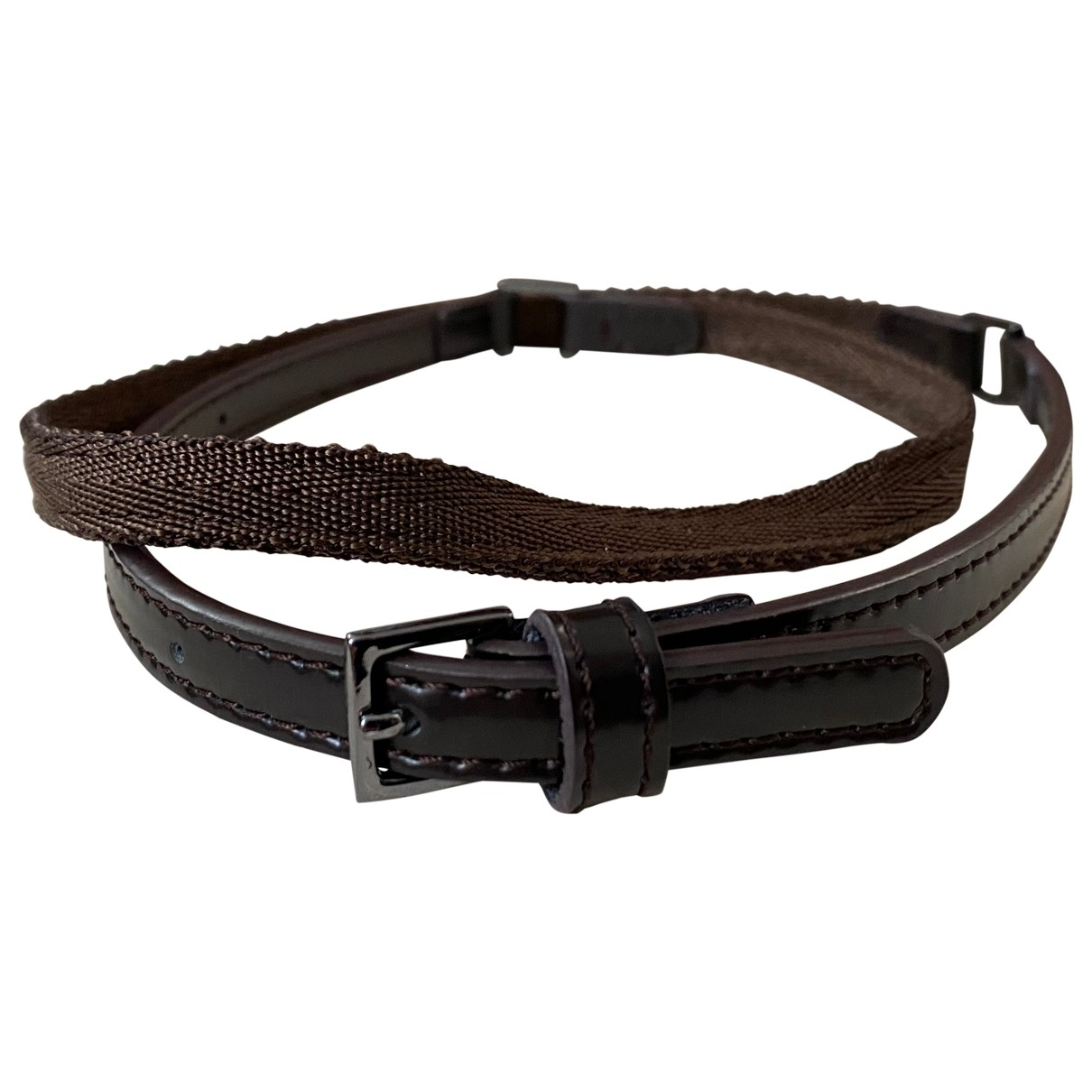 Max Mara 's \N Brown Leather belt for Women S International