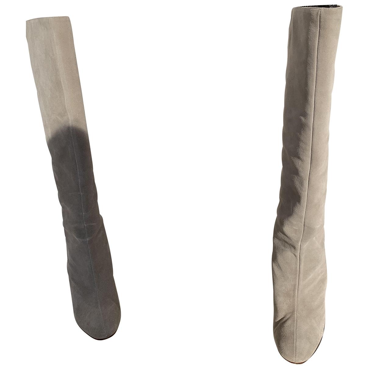 Paule Ka - Bottes   pour femme en suede - gris