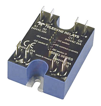 Teledyne 25 A rms Solid State Relay, DC, Panel Mount, Quad, 280 V rms Maximum Load