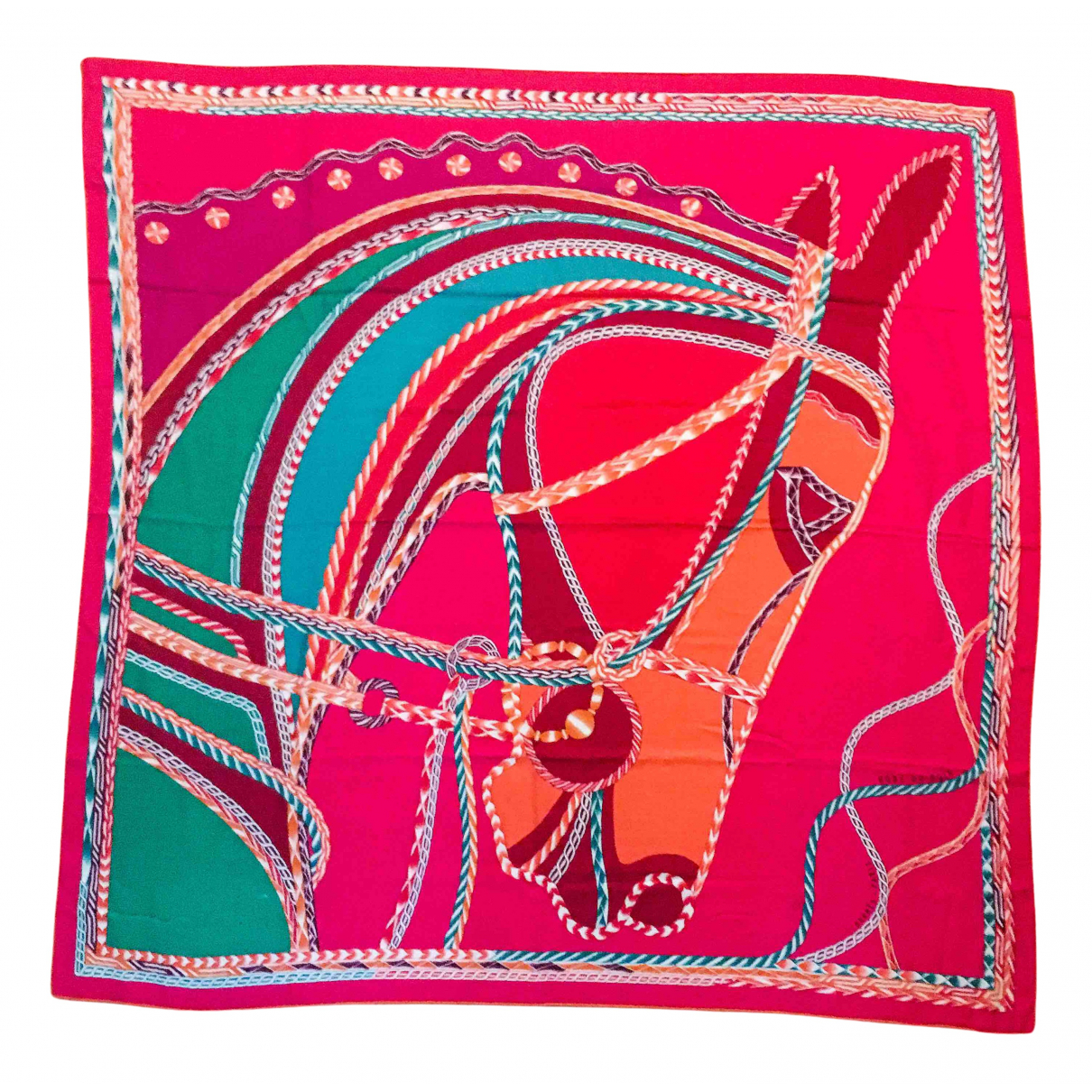 Hermes Chale 140 Schal in  Rosa Kaschmir