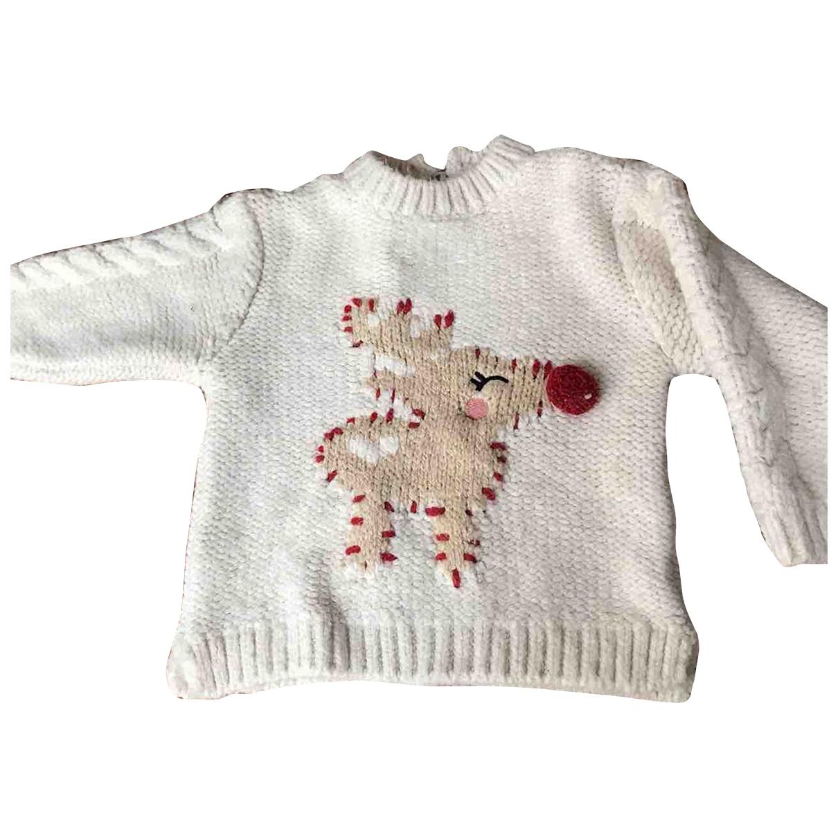 Zara - Pull   pour enfant - blanc