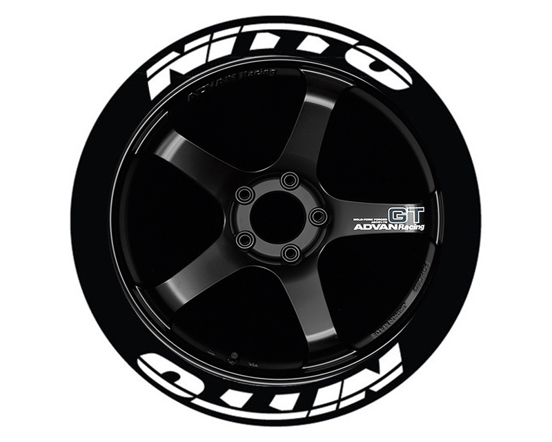 Tire Stickers NIT555-1921-125-4-Y Permanent Raised Rubber Lettering 'Nitto NT555' - 4 Of Each - 19