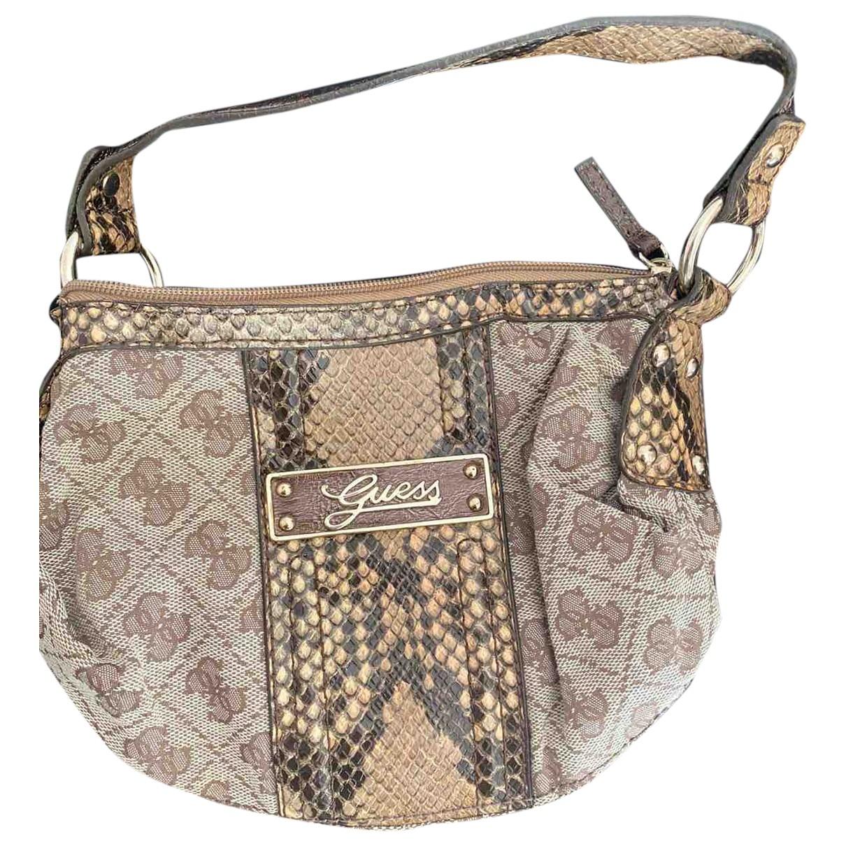 Guess \N Gold Cotton Clutch bag for Women \N