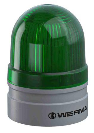 Werma EvoSIGNAL Mini Green LED Beacon, 24 V, Base-Mounted