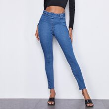Buckle Belted Skinny Jeans