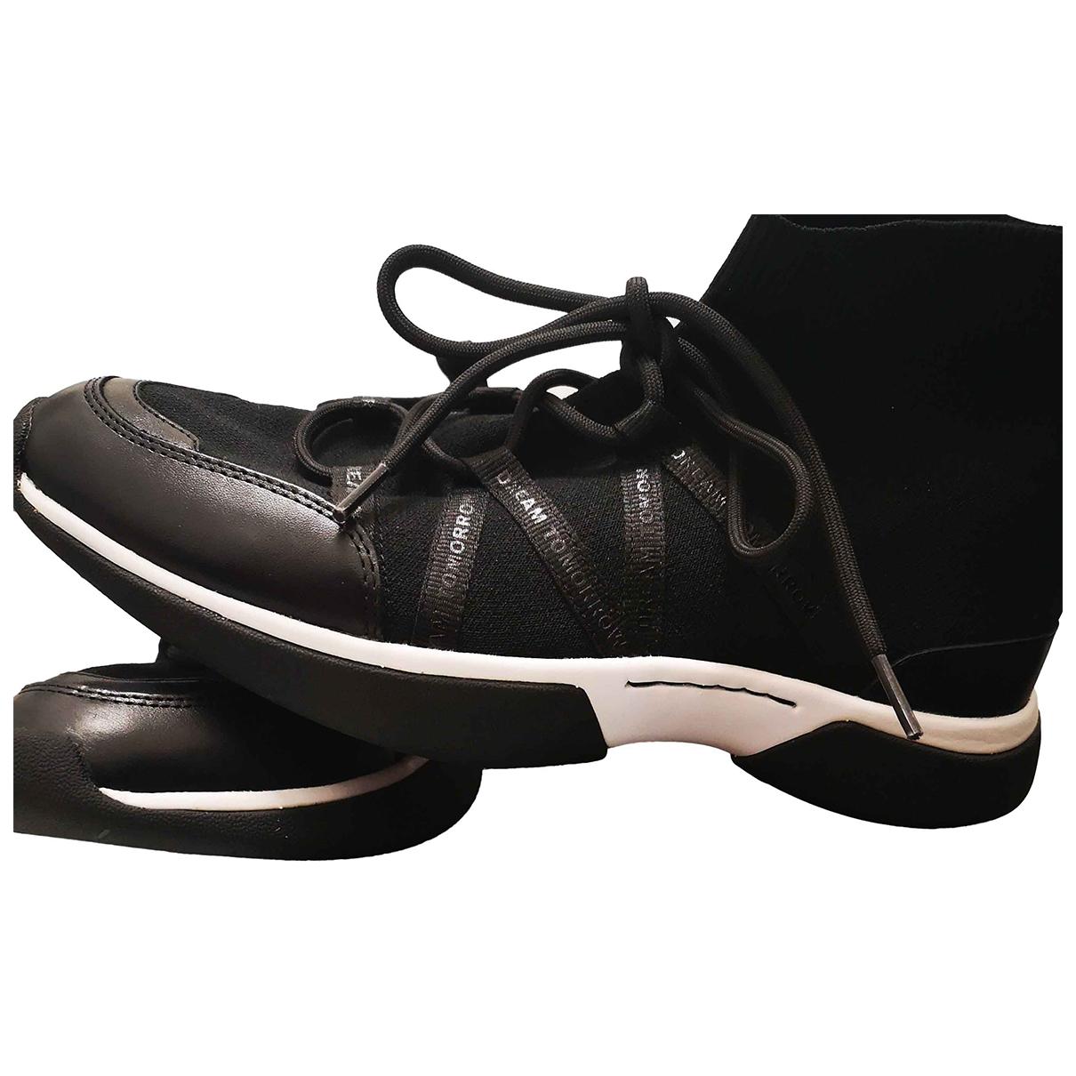 Maje \N Sneakers in  Schwarz Leder